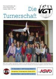 Vereinsnachrichten der Grazer Turnerschaft Oktober 2009 / Nr. 182