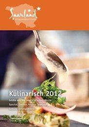Kulinarisch 2012 - Tourismus Zentrale Saarland