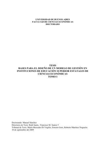 Texto completo: volumen I - Facultad de Ciencias Económicas ...