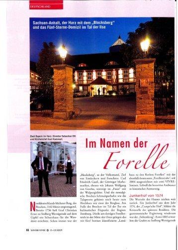 Savoir Vivre – Magazin für Genießer 11/12 2009 - Zu den Rothen ...
