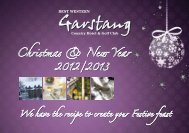 Christmas Brochure - Garstang Country Hotel & Golf Club