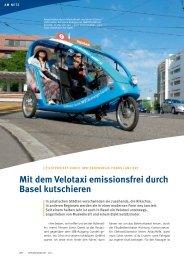 Energie&Wasser - Velotaxi Basel