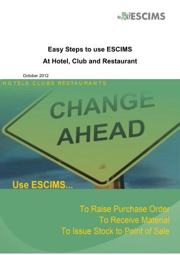 Easy Steps to use ESCIMS At Hotel, Club and Restaurant - Delhi