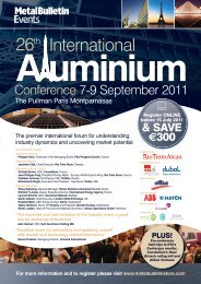 Conference 7-9 September 2011 - Metal Bulletin Store
