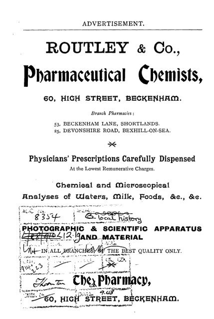 Beckenham Directory 1904 - Bromley Council