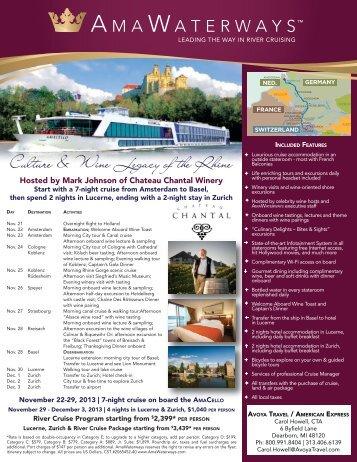 Culture & Wine Legacy of the Rhine - Chateau Chantal