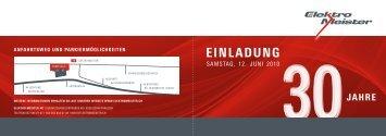 einladung - Elektro Meister AG