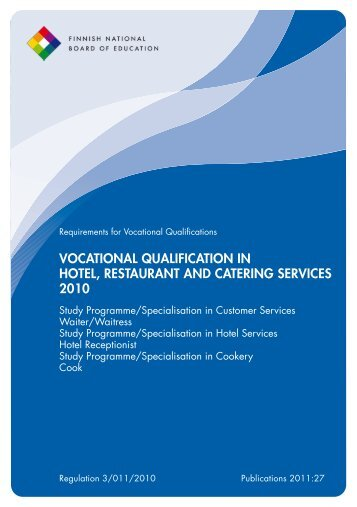 Vocational Qualification in Hotel, Restaurant and Catering Services