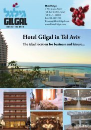 Hotel Gilgal brochure - Trumpet of Salvation to Israel
