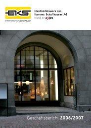 Geschäftsbericht 2006/07 - EKS AG