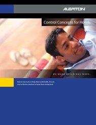 Alerton VLD new Sales Brochure for Hotels - Hawaii Energy ...