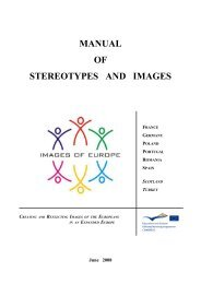 MANUAL OF STEREOTYPES AND IMAGES - Sophienschule