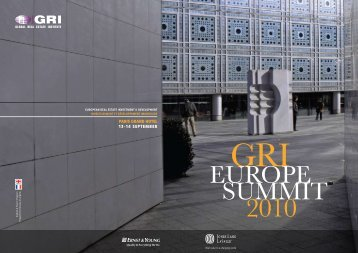 EUROPE SUMMIT - Global Real Estate Institute