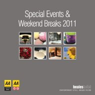 Special Events & - Beales Hotels