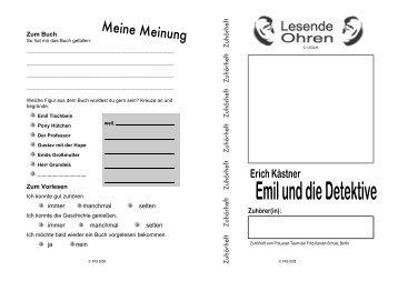 """Zuhörheft zu """"Emil und die Detektive"""" - Bildungsserver Berlin ..."""