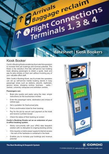 datasheet | Kiosk Bookers - Cordic