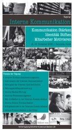 Broschüre 2009 - Tagung Interne Kommunikation