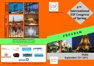 program - European Spring Federation
