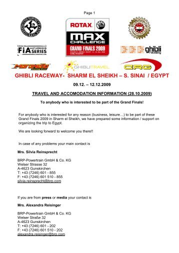 ghibli raceway- sharm el sheikh – s. sinai / egypt - Max Challenge