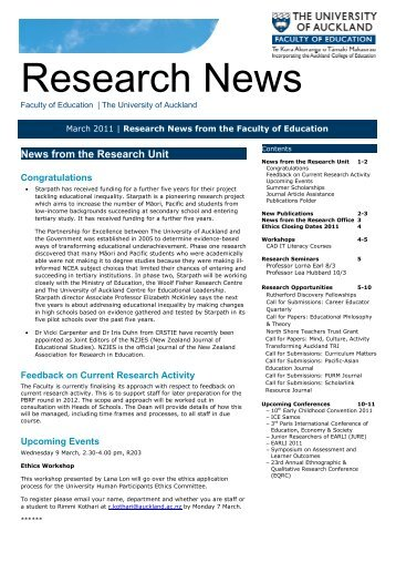 Research News - Faculty of Education - The University of Auckland