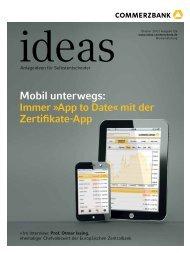 ideas - monatliches Magazin - Commerzbank - Commerzbank AG