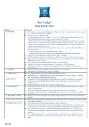ibis budget KEY CRITERIA - Accor