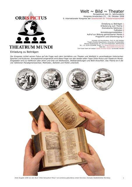 Welt ~ Bild ~ Theater - Orbis Pictus ~ Theatrum Mundi