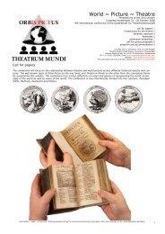 World ~ Picture ~ Theatre - Orbis Pictus ~ Theatrum Mundi
