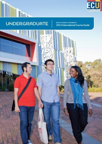 Undergraduate international course guide - Edith Cowan University