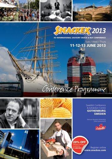 Download Programme Brochure - Snackex 2013