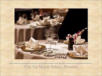 The Taj Mahal Palace, Mumbai - Taj Group of Hotels