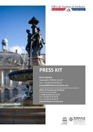 PRESS KIT - Office de Tourisme de Bordeaux