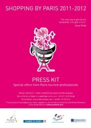 Press Kit special offers_Shopping by Paris 2012 - Shopping