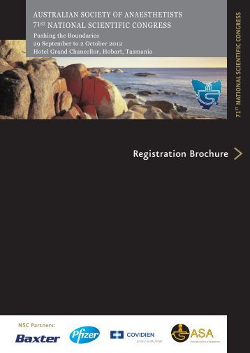 Registration Brochure - (ASA) National Scientific Congress