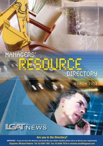 March 2012 - Managers Resource Directory - Local Government ...