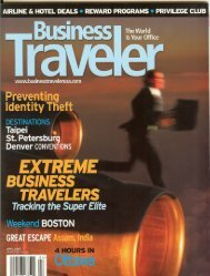 Business Traveler April 2007 - Hotel Mela