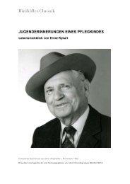 [D] Lebensrückblick von Ernst Rykart. Margot ... - Rütihöfler Chronik
