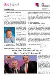 Report 3-2012.indd - [DBB] - Landesbund Bremen