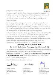 Einladung Marktplatzveranstaltung 24.11. - Gesundheitslandschaft ...