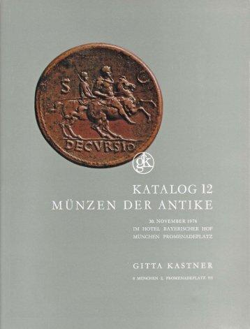 GITTA KASTNER Katalog 12 (1976) - Münzen der Antike