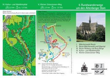 5 Rundwanderwege um den Altenberger Dom - Altenberg-Info