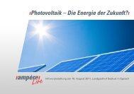 ıPhotovoltaik – Die Energie der Zukunft?ı - Elektro Etter AG