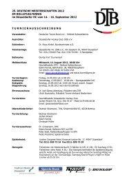 geht´s zur Ausschreibung und zu den - Deutscher Tennis Bund