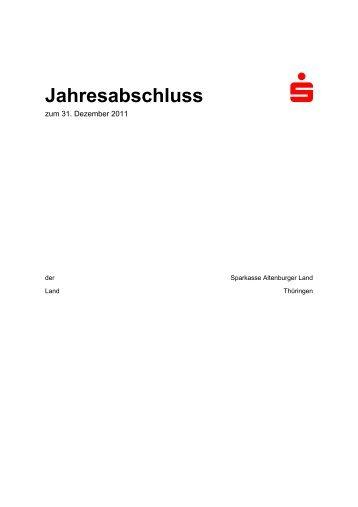 Jahresabschluss - Sparkasse Altenburger Land