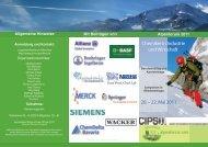 Flyer zum Alpenforum 2011 - Jungchemikerforum München
