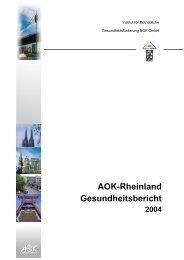 Rheinlandbericht 2004 - Institut für Betriebliche Gesundheitsförderung