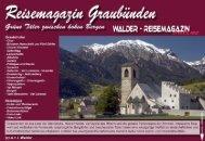 Reisemagazin Graubünden - Reisetipps-Europa