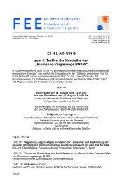 5. Treffen der Hersteller von Biomassevergasungsanlagen in Berlin