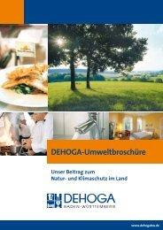 Umweltbroschüre (pdf, 1,8 MB) - Dehoga