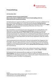 Pressemitteilung - Sparkasse Hildesheim